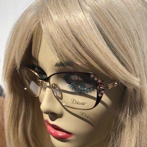 Diva 5441 Single Vision Prescription Eyeglasses 🖤